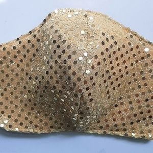 Gold Sequin Face Mask organic cotton